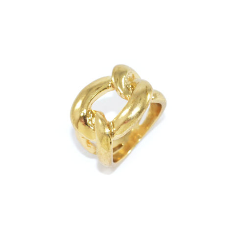 CHAIN,LINK,RING,FAUX CHAIN RING, CHAIN PENDANT RING, GOLD CHAIN RING