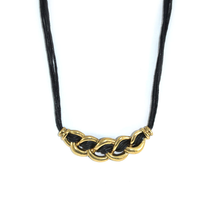 CHAIN LINK WITH STRING PENDANT NECKLACE - product image