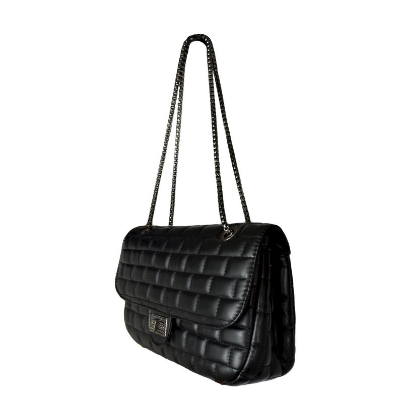 BRICK PATTERN CHAIN SHOULDER BAG - product image