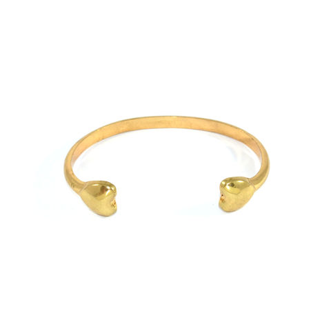 DOUBLE,HEART,BANGLE,HEART BANGLE, GOLD HEART BANGLE, GOLD DOUBLE HEART BANGLE , GOLD TONE HEART BANGLE