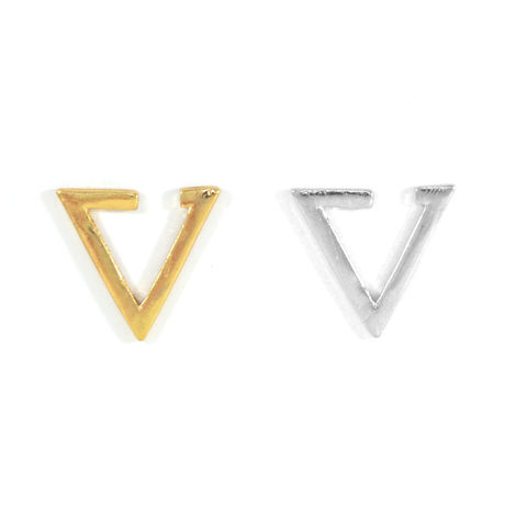 TRIANGLE,EAR,CUFF,TRIANGLE EARRING, EAR CUFF, MINIMAL TRIANGLE EAR CUFF, TRIANGULAR EAR CUFF