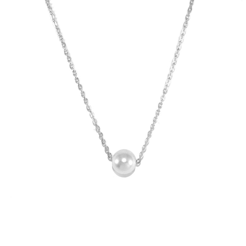 MINIMAL PEARL NECKLACE - product image