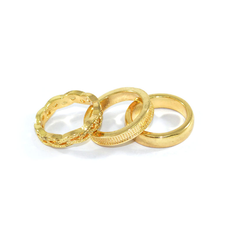 MINIMAL PATTERN RING SET - product image