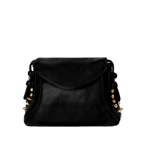 MINI,GOLD,STUD,SHOULDER,BAG,STUD SHOULDER BAG, GOLD STUD DECOR SHOULDER BAG, LEATHER SHOULDER BAG, BLACK LEATHER SHOULDER BAG, GOLD STUD LEATHER SHOULDER BAG