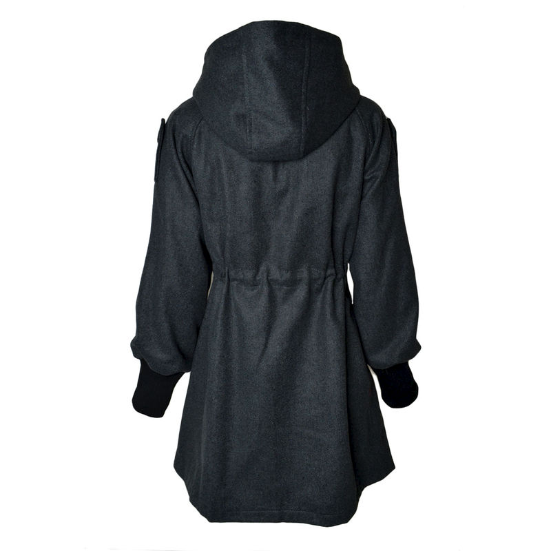 ZIPPERED PANEL COAT - product image