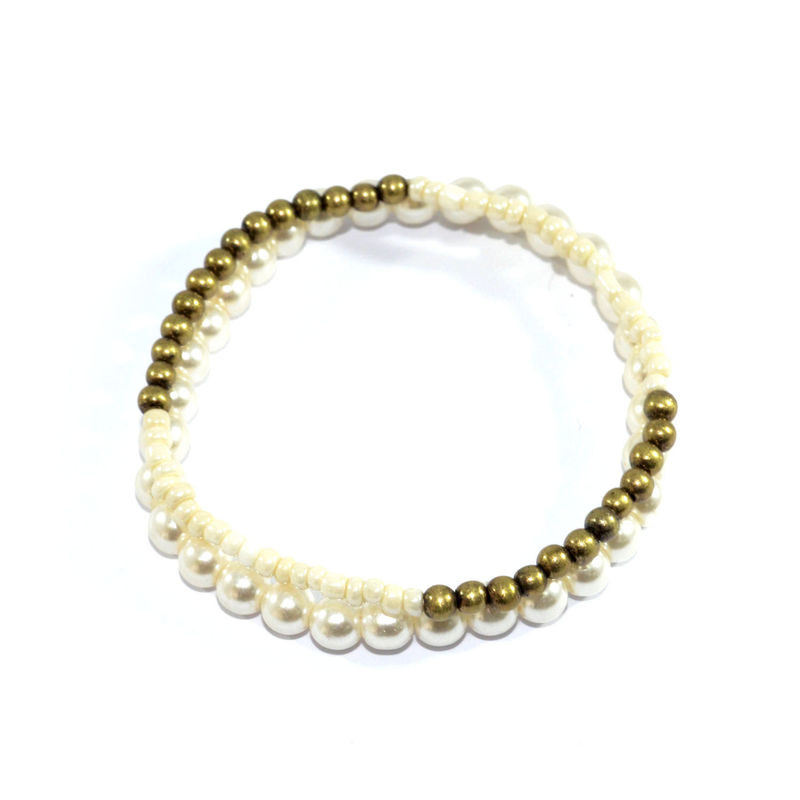PEARL AND BEAD BRACELET SET - product image