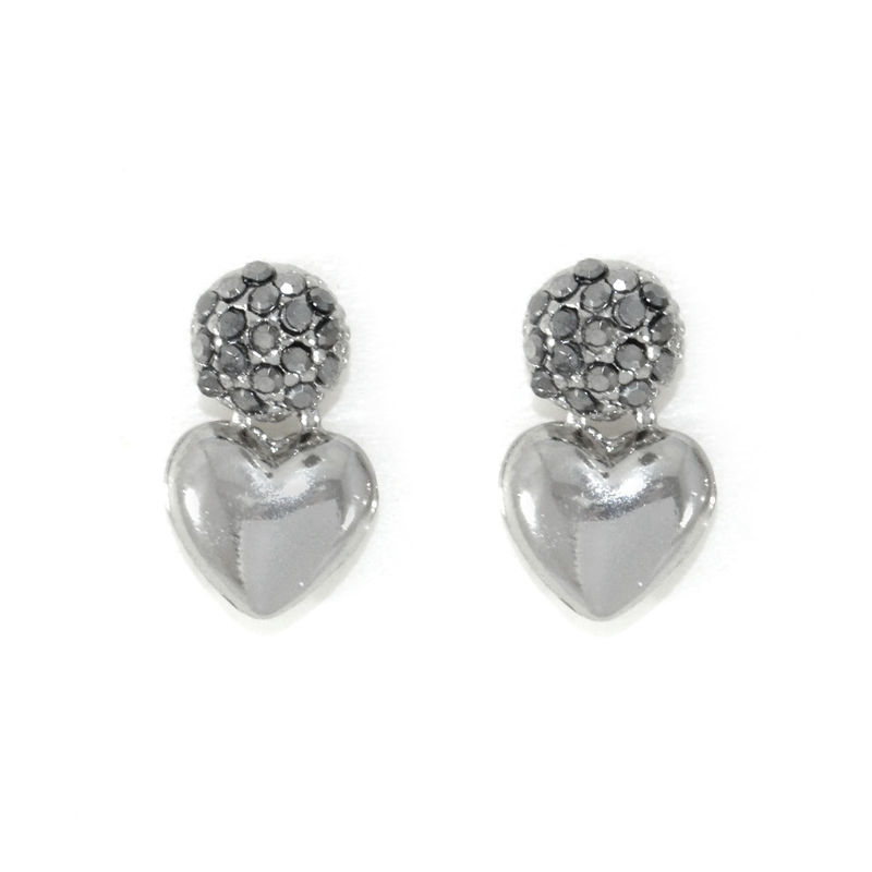 CRYSTAL BALL AND HEART EARRINGS - product image