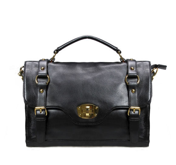 DOUBLE BUCKLE FRONT FLAP SATCHEL BAG - product image