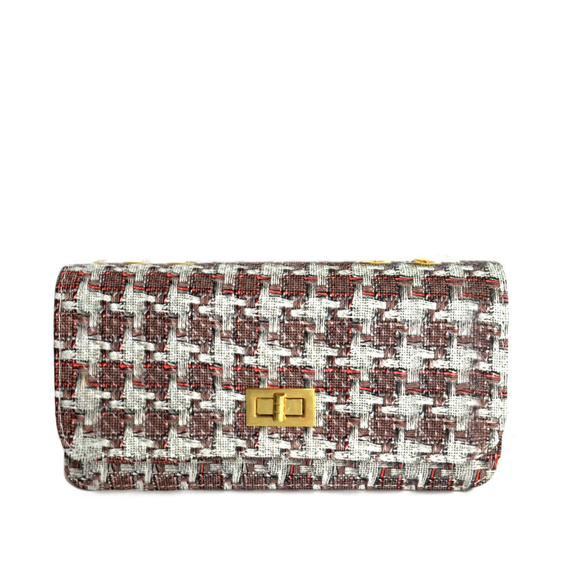 WOVEN STRING PATTERN SHOULDER BAG - product image