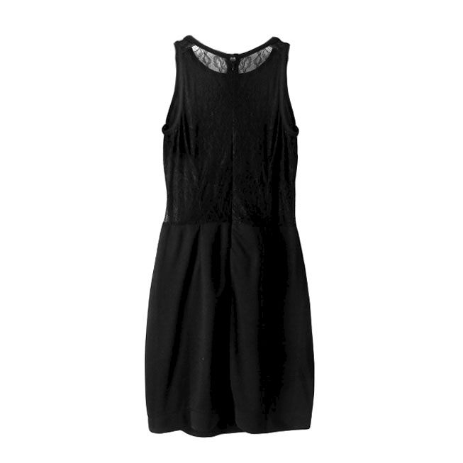VELVET AND LACE DRESS - product image