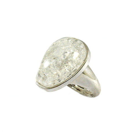 SILVER,TONE,OVAL,CRYSTAL,RING,OVAL CRYSTAL RINGS, SILVER CRYSTAL RINGS, OVAL SILVER RING