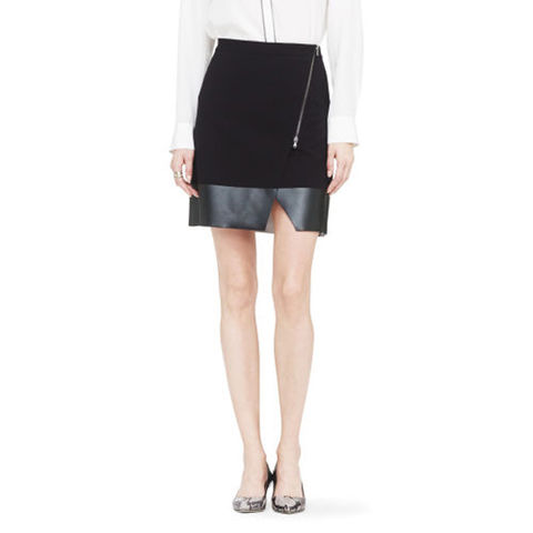 LEATHER,LOOK,SKIRT,WITH,ZIP,LEATHER SKIRT, FAUX LEATHER SKIRT, BLACK LEATHER SKIRT, ZIPPED LEATHER SKIRT
