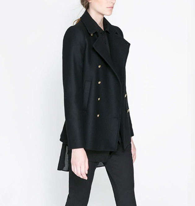 COAT WITH METALLIC BUTTON - product image