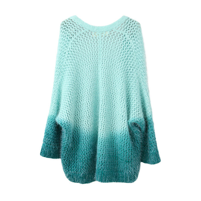 BLUE GRADIENT KNIT SWEATER - product image