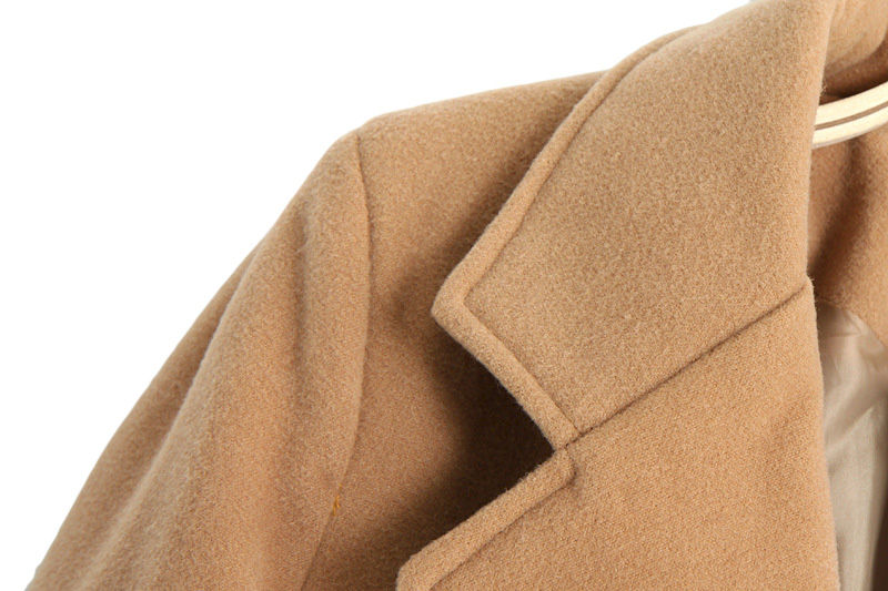 LAPEL KHAKI COAT - product image