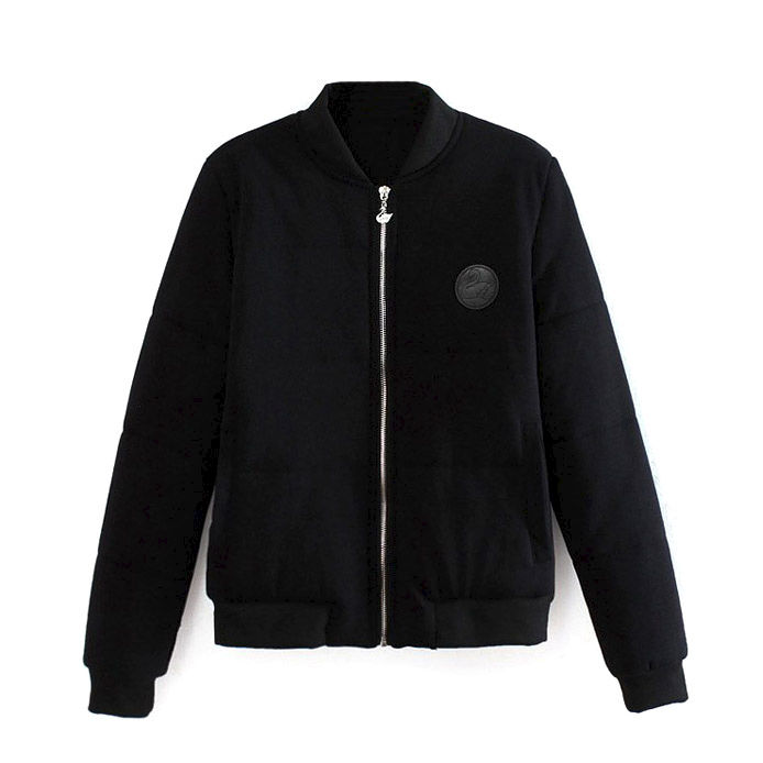BADGE AND PADDED BOMBER JACKET - product image