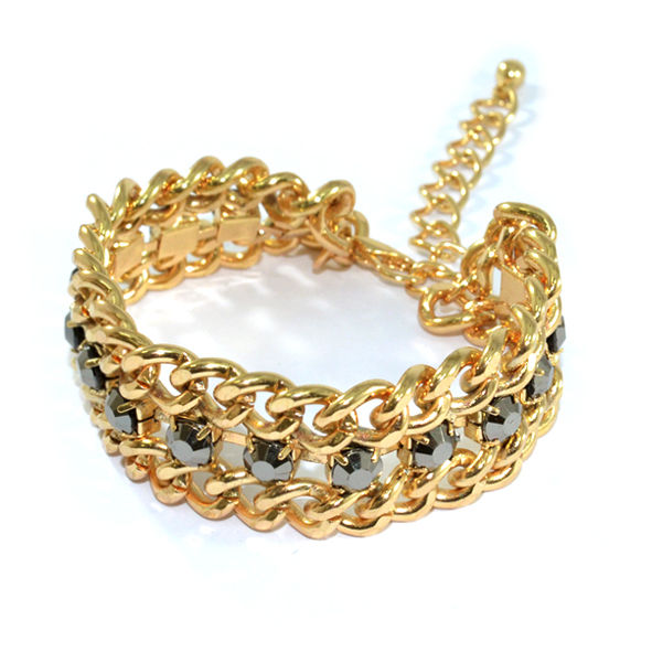 CHUNKY CHAIN WITH CRYSTAL BRACELETS - product image