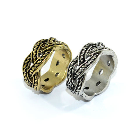 VITNAGE,TWISTED,RING,WOVEN ROPE RING, TWISTED ROPE RING, TWISTED RING, VINTAGE TWISTED ROPE RING