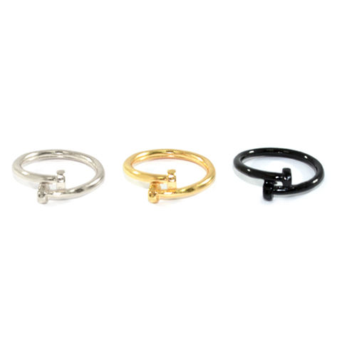 THIN,TWISTED,SCREW,RING,SCREW RING, SCREW CHARM RING, SCREWDRIVER RING