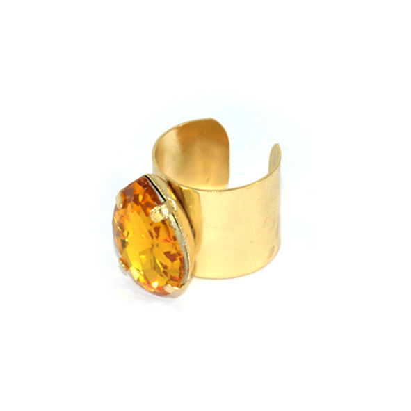 WATER DROP CRYSTAL RING - product image