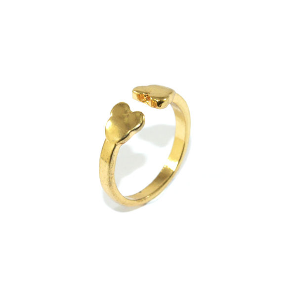 DOUBLE BEAR HEAD RING - product image