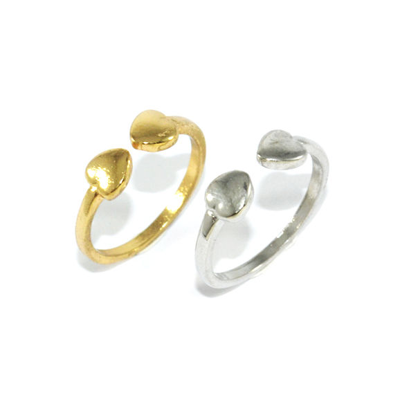 DOUBLE MINI HEART RING - product image