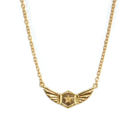 STAR,WING,NECKLACE,STAR NECKLACE, BADGE NECKLACE, ARMY BADGE NECKLACE, STAR AND WING NECKLACE