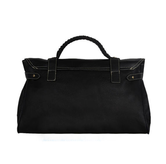 LEATHER LOOK WITH BUCKLED TOTE BAG - product image