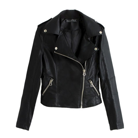 ZIPPER,LEATHER,LOOK,JACKET,LEATHER JACKET, PU LEATHER JACKET, ZIPPER JACKET, FRONT ZIP JACKET, BLACK LEATHER ZIPPER JACKET