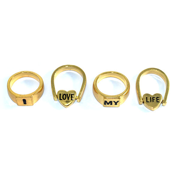 I LOVE MY LIFE RING SET - product image