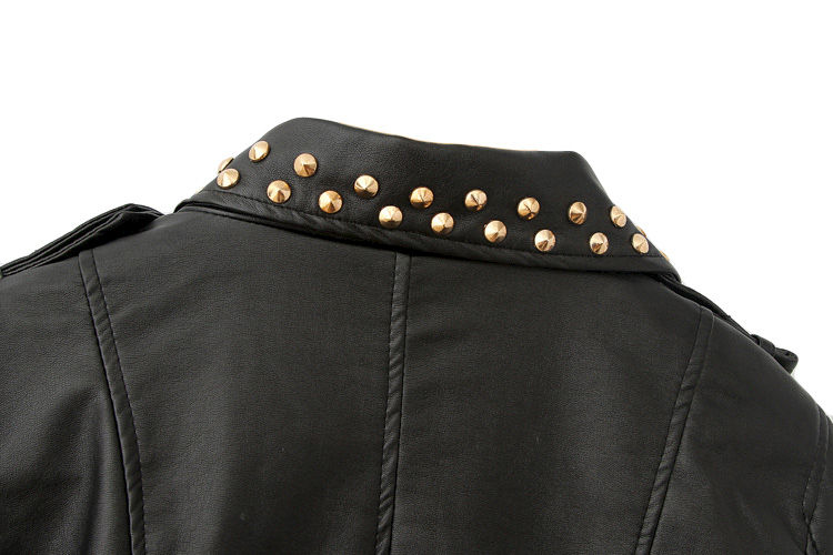 STUDDED LEATHER LOOK JACKET - product image