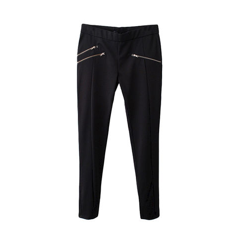 SKINNY,TROUSERS,WITH,ZIP,POCKET,ZIPPER TROUSERS, SKINNY TROUSERS, BLACK MINIMAL SKINNY TROUSERS, ZIP POCKET TROUSERS