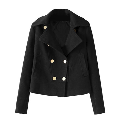 SHORT,COAT,WITH,LARGE,COLLAR,DOUBLE BREASTED JACKET, DOUBLE BREASTED COAT, SHORT DOUBLE BREASTED COST, SHORT DOUBLE BREASTED JACKET, LARGE COLLAR DOUBLE BREASTED JACKET