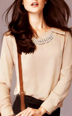 CRYSTAL COLLAR SHIRT - product image