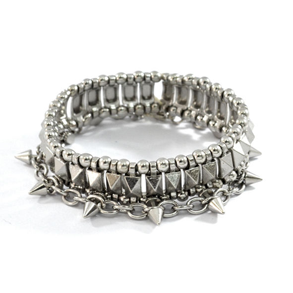 SPIKE WITH STUD BRACELET SET - product image