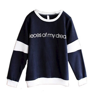 OVERSIZE,MESSAGE,JUMPER,MESSAGE JUMPER, CONTRAST JUMPER, SIMPLE OVERSIZE JUMPER, BLUE OVERSIZE JUMPER, MESSAGE OVERSIZE JUMPER