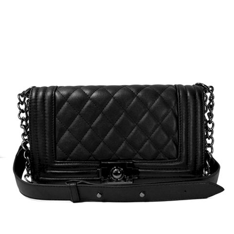 CLASSIC,QUILTED,BAG,QUILTED TWO WAY BAG, BLACK CLASSIC QUILTED BAG, BLACK CLASSIC QUILTED TWO WAY BAG