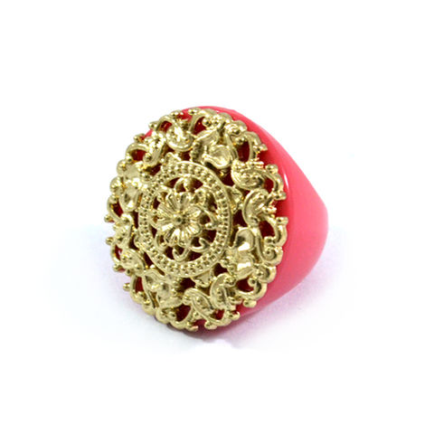 REGAL,FILIGREE,RING,REGAL RING, FILIGREE RING, ROUND REGAL FILIGREE RING, PINK REGAL FILIGREE RING