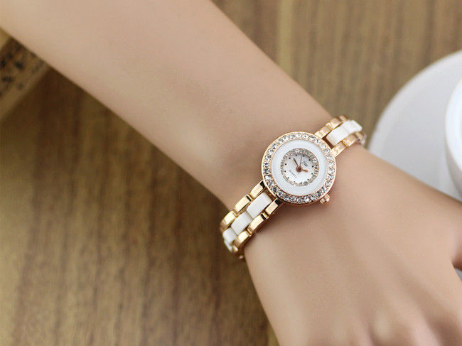 GOLD WITH WHITE TONE WATCH - product image