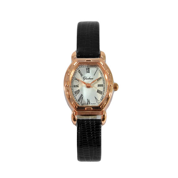 VINTAGE STYLE LEATHER LOOK STRAP WATCH - product image