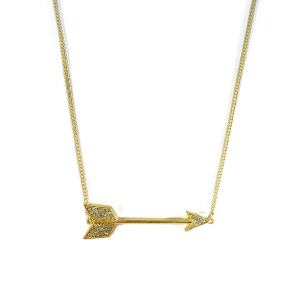 ARROW WITH CRYSTALS NECKLACE - product image