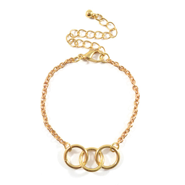 TRIPLE RINGS CHARM BRACELET - product image
