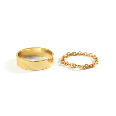 MINIMAL,SURFACE,WITH,CHAIN,RING,SET,MINIMAL RING, GOLD MINIMAL RING, CHAIN RING, GOLD CHAIN RING, MINIMAL RING AND CHAIN RING SET