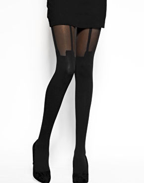 MOCK SUSPENDER TIGHTS - product image