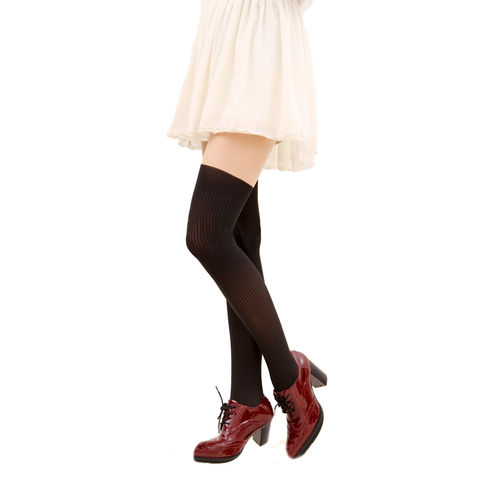 STRIPED,SUSPENDER,TIGHTS,BLACK STRIPES SUSPENDER TIGHTS, STRIPED PATTERN SUSPENDER TIGHTS, BLACK STRIPED PATTERN TIGHTS