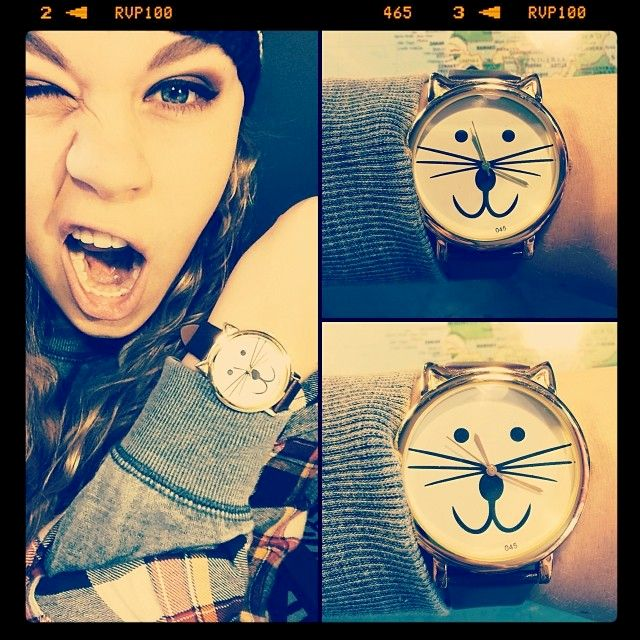 FAUX LEATHER CAT WATCH - product image