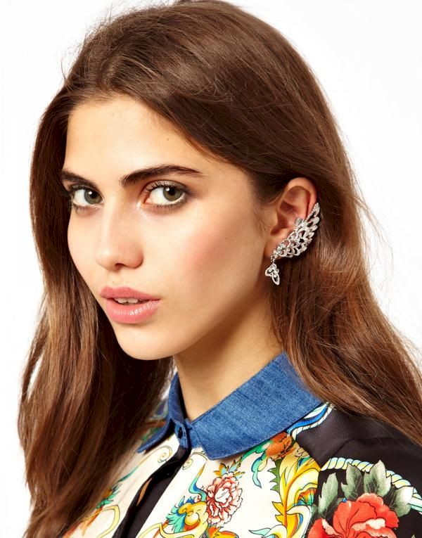 WING EAR CUFF WITH CRYSTALS - product image