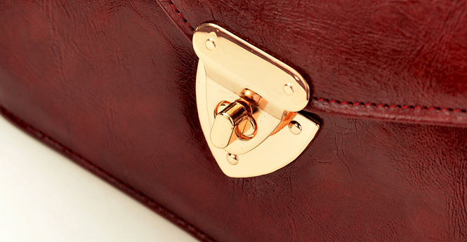 VINTAGE STYLE LEATHER SHOULDER BAG - product image
