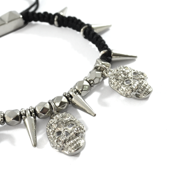 SKULL WITH SPIKE BRACELET - product image