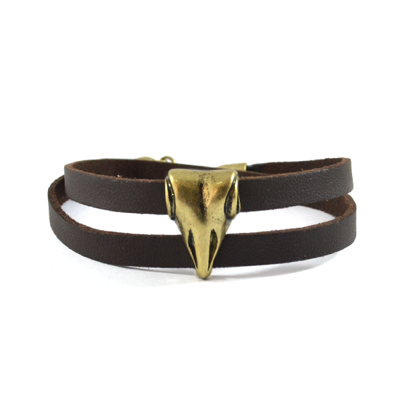 METAL CHARM LEATHER BRACELET - product image